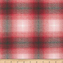 Kaufman Mammoth Flannel Plaid Red/Black Fabric