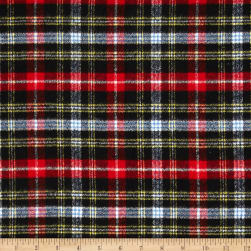 Kaufman Mammoth Flannel Plaid Jet Fabric