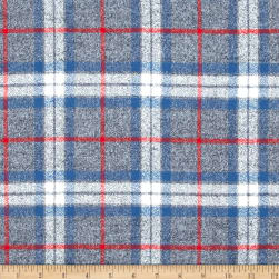 Kaufman Mammoth Flannel Plaid Smoke Fabric