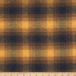 Kaufman Mammoth Flannel Plaid Toasted Almond Fabric