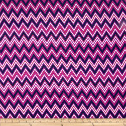 Kaufman Cool Cords Chevron Purple Fabric