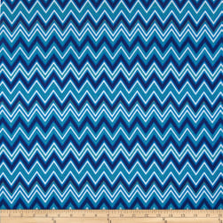 Kaufman Cool Cords Chevron Royal Fabric