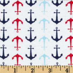 Riley Blake Cotton Jersey Knit Holiday Anchors Multi