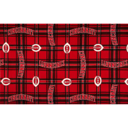 MLB Fleece Cincinnati Reds Fabric