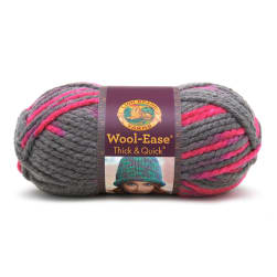 Lion Brand Wool Ease Thick & Quick Prints Yarn Flamingo