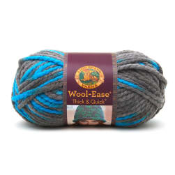 Lion Brand Wool Ease Thick & Quick Prints Yarn Blue Jay