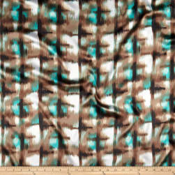 Charmeuse Satin Myrtle Tan/Green Fabric