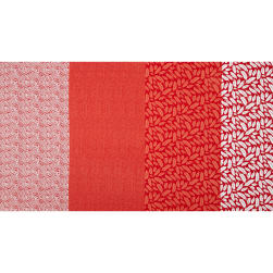 Geniuses Go Wild Patch Stripe Red Fabric
