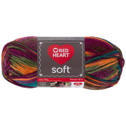 Red Heart Soft Yarn (9939) Jeweltone