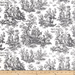 Waverly Rustic Life Toile Black Fabric