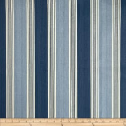 Waverly Spotswood Stripe Porcelain Fabric