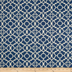 Waverly Lovely Lattice Lapis Sateen Fabric