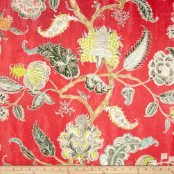 Waverly Asian Myth Twill Radish Fabric