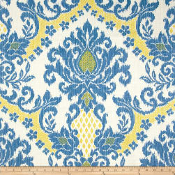 Waverly Bedazzle Ikat Blend Blue Sky Fabric