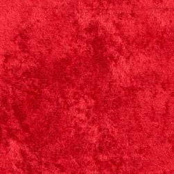 Fabric Merchants Crushed Panne Velour Red Fabric
