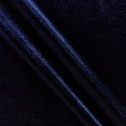 Fabric Merchants Stretch Velvet Navy Fabric