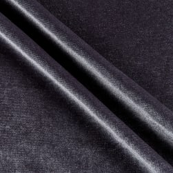 Stretch Velvet Knit Charcoal Fabric