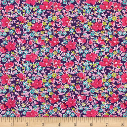 Liberty Fabrics Tana Lawn John Purple/Multi Fabric