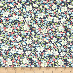 Liberty Fabrics Tana Lawn John Navy/Multi Fabric