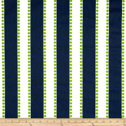Premier Prints Lulu Navy/Chartreuse Fabric