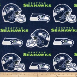 NFL Fleece Seattle Seahawks Dark Blue Fabric