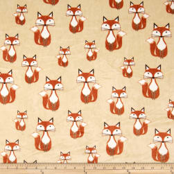 Shannon Minky Cuddle Foxy Tails Beige Fabric