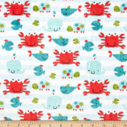 Shannon Minky Cuddle Go Fish Snow Fabric