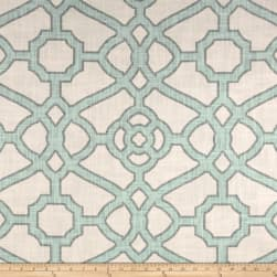 P Kaufmann Pavilion Fretwork Tropical Blue Fabric