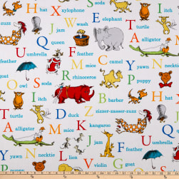 Dr. Seuss ABC Alphabet Words Adventure Fabric