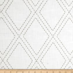 Jaclyn Smith 02615 Embroidered Diamonds Dove Gray Fabric