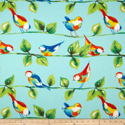 Richloom Solarium Outdoor Curious Birds Sky Fabric