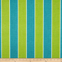 Richloom Solarium Outdoor Wickenburg Stripe Teal Fabric