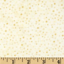 Essentials Flannel Petite Dots Ivory Fabric