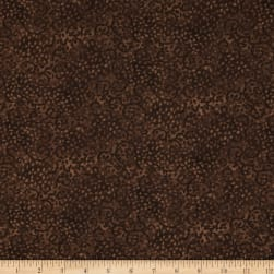 "Essentials 108"" Wide Quilt Back Leafy Scroll Brown"