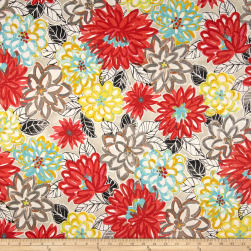 Waverly Palace Matisse Dance Scarlet Lake Fabric