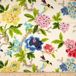 Waverly Candid Moment GardeniaBasketweave Fabric