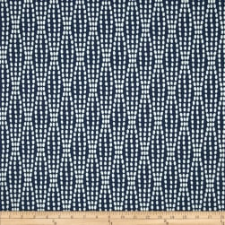 Waverly Strands Jacquard Navy Fabric