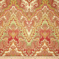 Waverly Paisley Verse Slub Crimson Fabric
