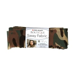 Red Heart Yarn Boutique Sassy Fabric Camouflage