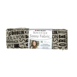 Red Heart Yarn Boutique Sassy Fabric Newsprint