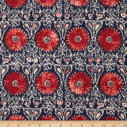 Duralee Home Riya Red/Blue Fabric