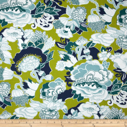 Duralee Home Kiji Twill Blue/Green Fabric