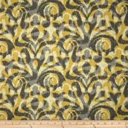 Duralee Davi Damask Yellow Fabric