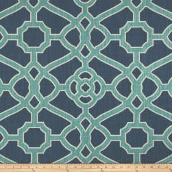 P Kaufmann Pavillion Fretwork Indigo Fabric
