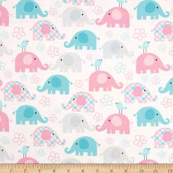 Child's Play Elephants Pastel Fabric