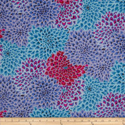 Kaffe Fassett Dahlia Blooms Cool Fabric