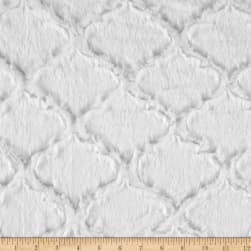 Shannon Minky Soft Lattice Cuddle Snow Fabric