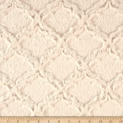 Shannon Minky Luxe Cuddle Lattice Ivory Fabric