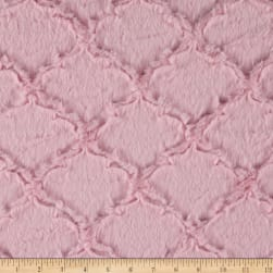Shannon Minky Luxe Cuddle Lattice Baby Pink Fabric