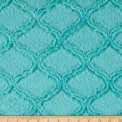 Shannon Minky Luxe Cuddle Lattice Aruba Fabric